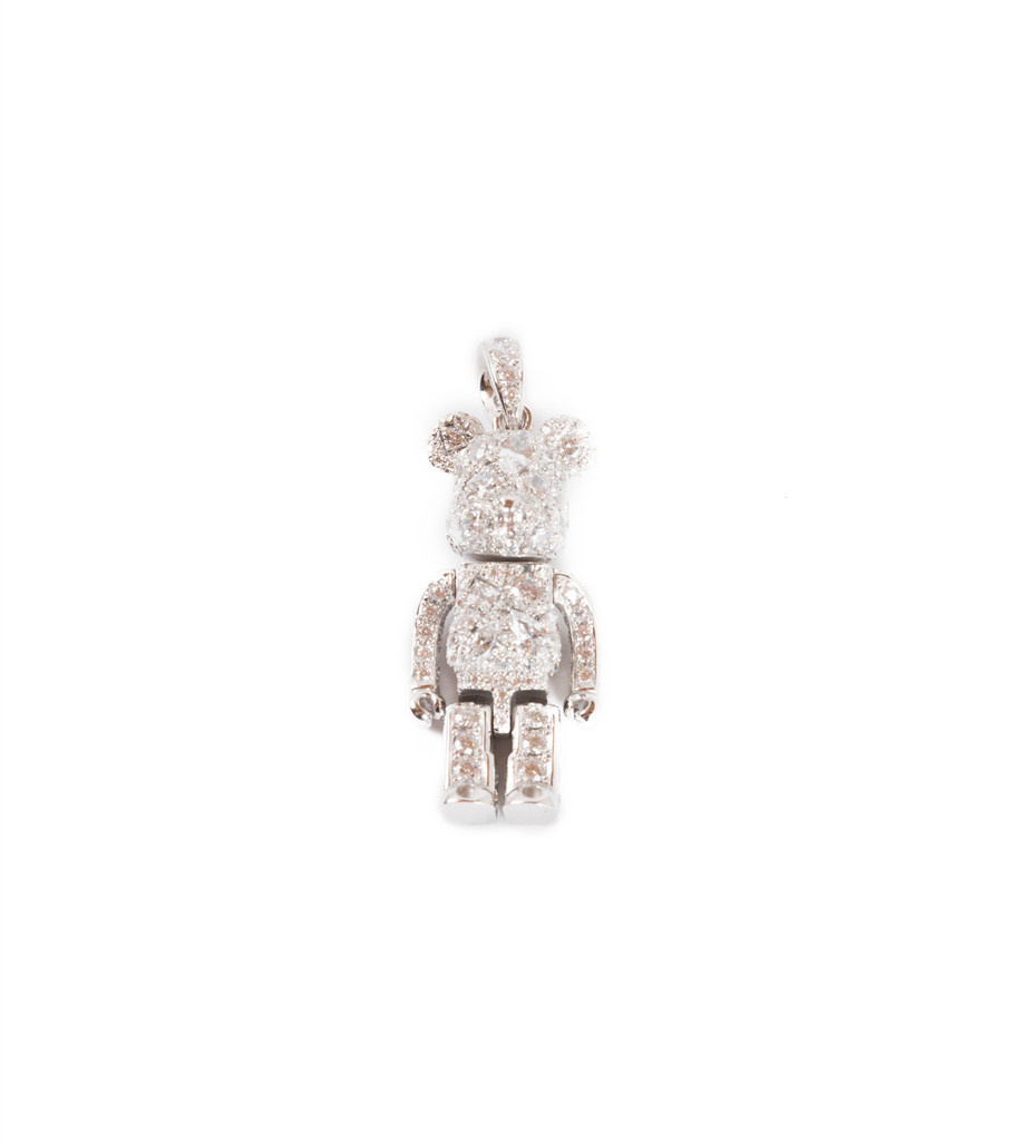 "Be@rbrick Stardust Necklace ""Silver""-7"