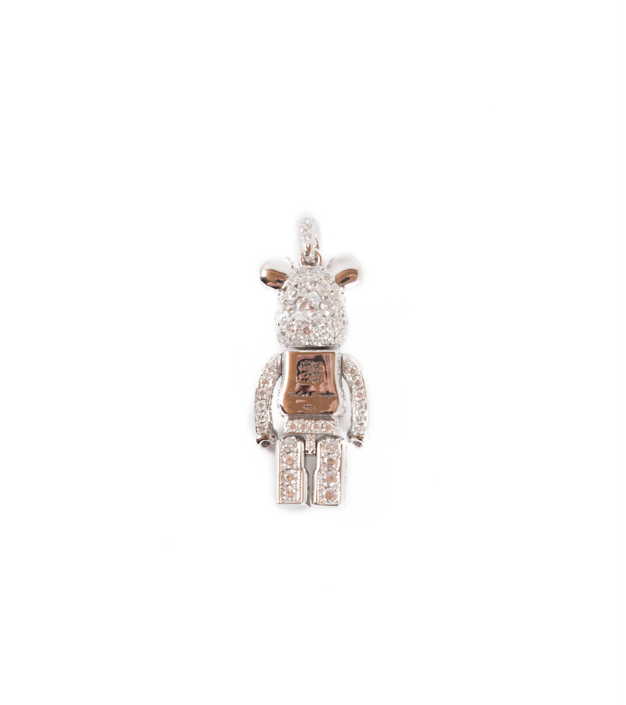 "Be@rbrick Stardust Necklace ""Silver""-8"