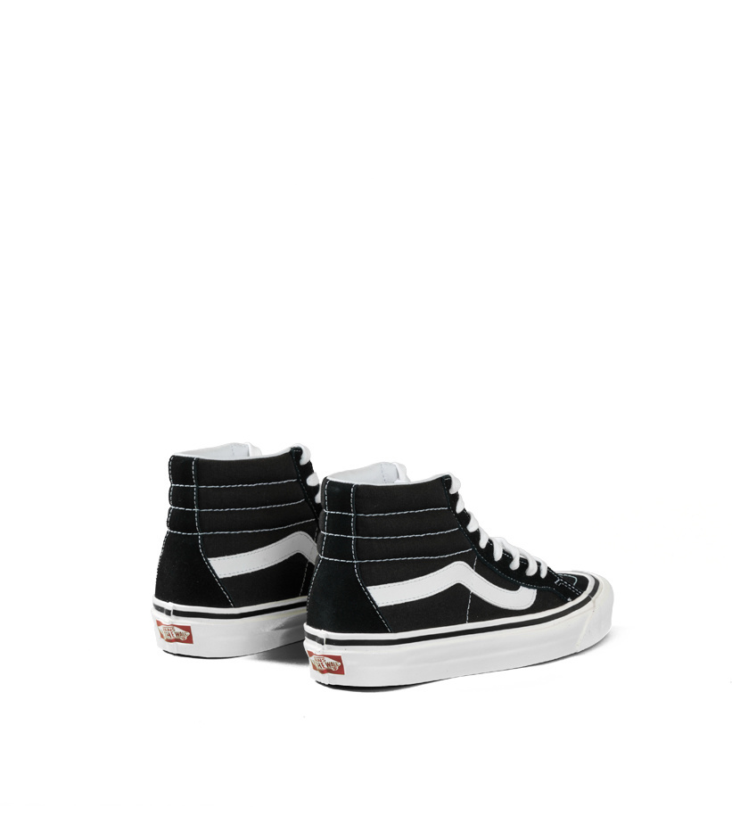 "Vans Sk8-Hi 38 DX (Anaheim Factory) ""Black/True White"""