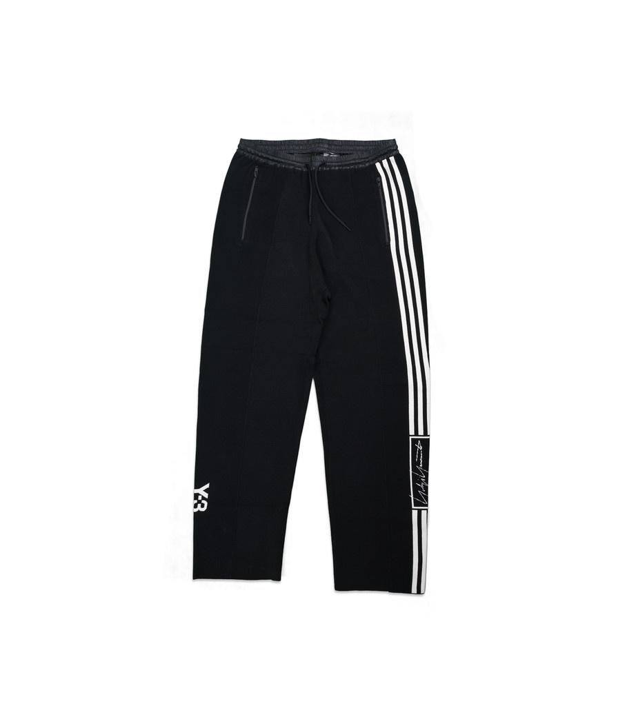 """Y-3 Tech Knit Wide Pants """"Black/White""""-1"""