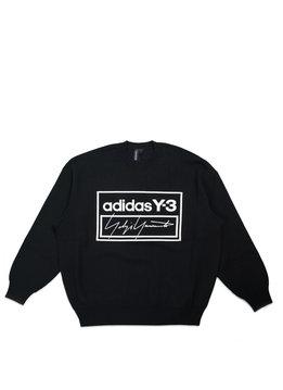 "adidas Y-3 Script Tech Knit Sweatershirt ""Black/White"""