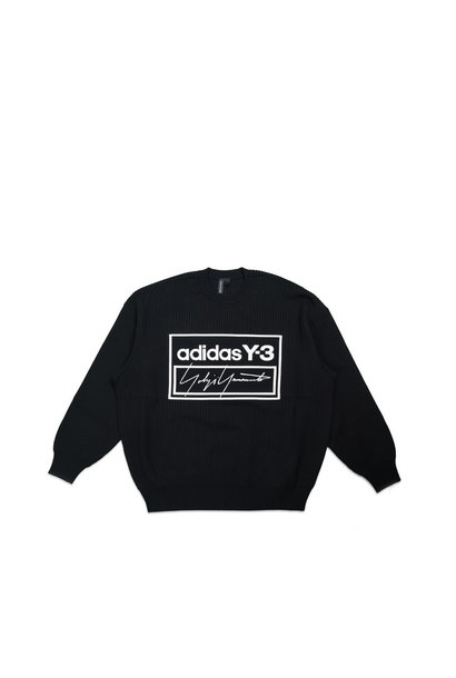 "Y-3 Script Tech Knit Sweatershirt ""Black/White"""