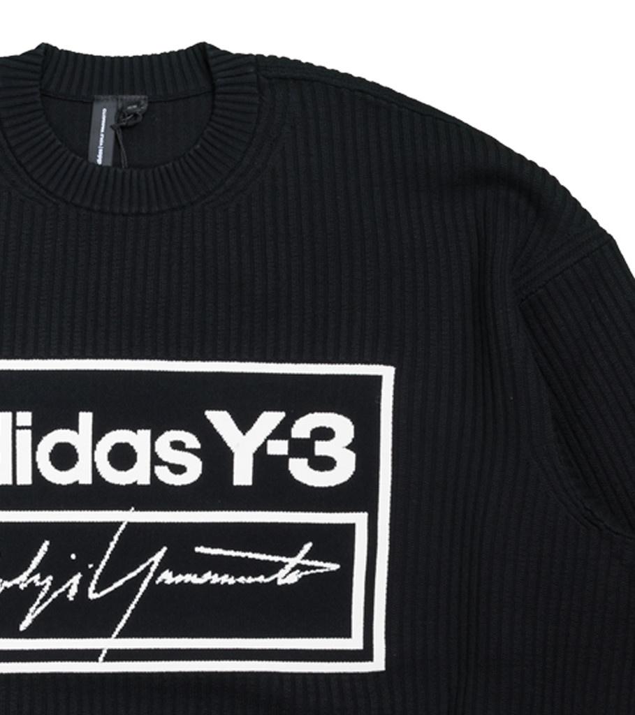 """Y-3 Script Tech Knit Sweatershirt """"Black/White""""-2"""