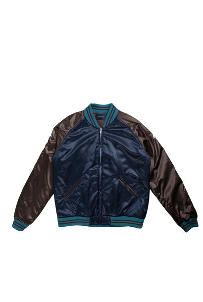 "Satin Jacket ""Navy"""