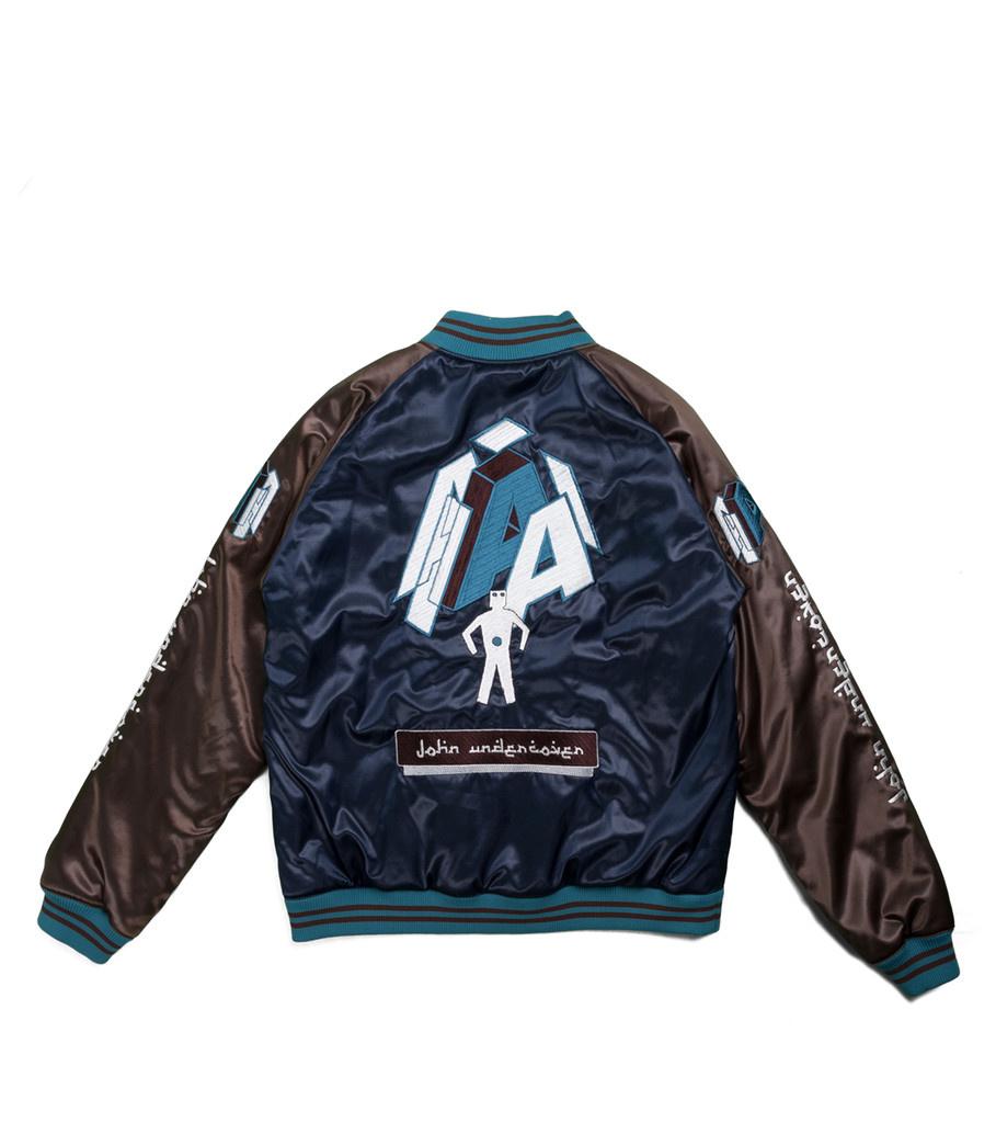 "Satin Jacket ""Navy""-3"