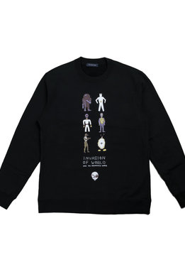 "John Undercover Invasion of World Sweater ""Black"""