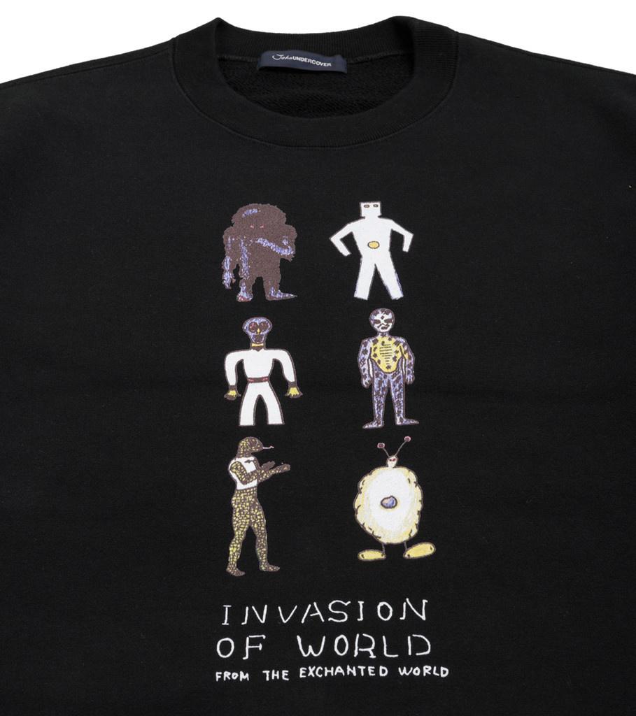 "Invasion of World Sweater ""Black""-2"