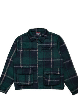 "Babylon LA Plaid Jacket ""Forest Green"""