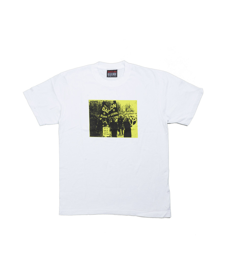 "Burn It Down Tee ""White""-1"