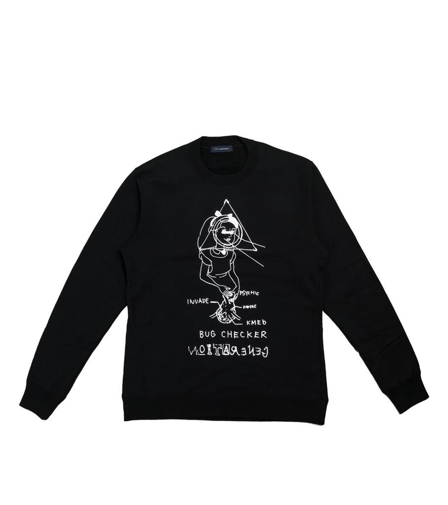 "John Undercover Bug Checker Sweater ""Black"""