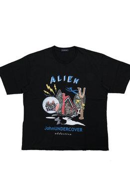 "John Undercover Alien Print Tee ""Black"""
