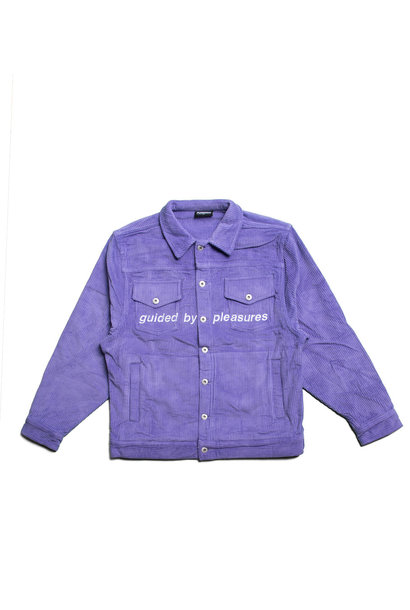 "Corduroy Trucker Jacket ""Purple"""