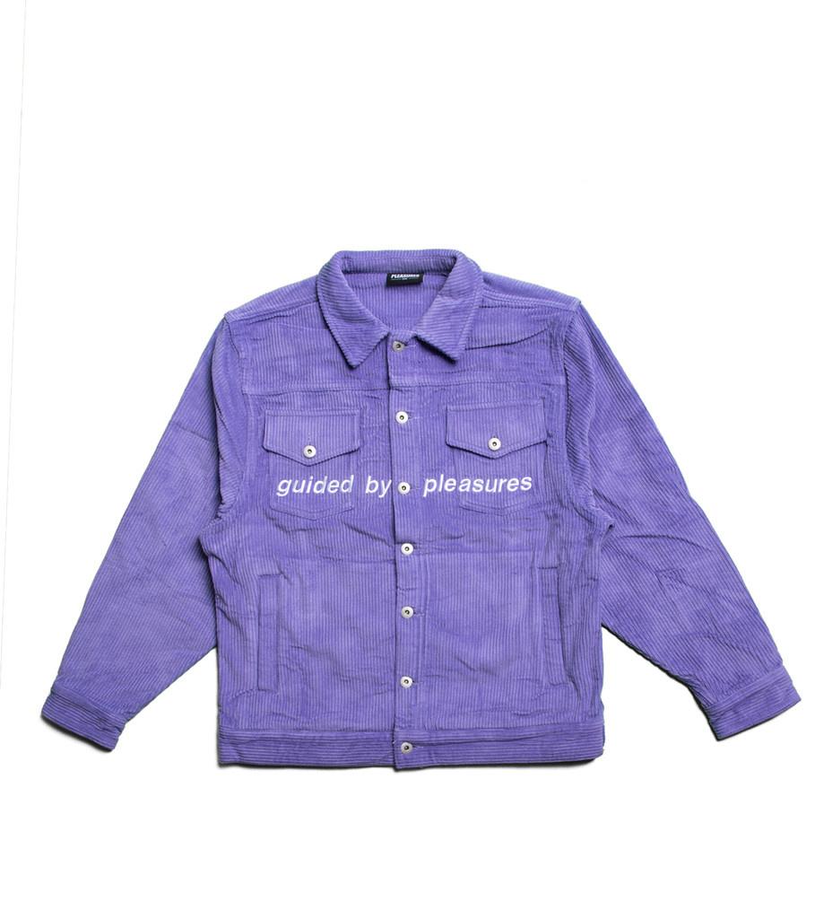 """Corduroy Trucker Jacket """"Purple""""-1"""