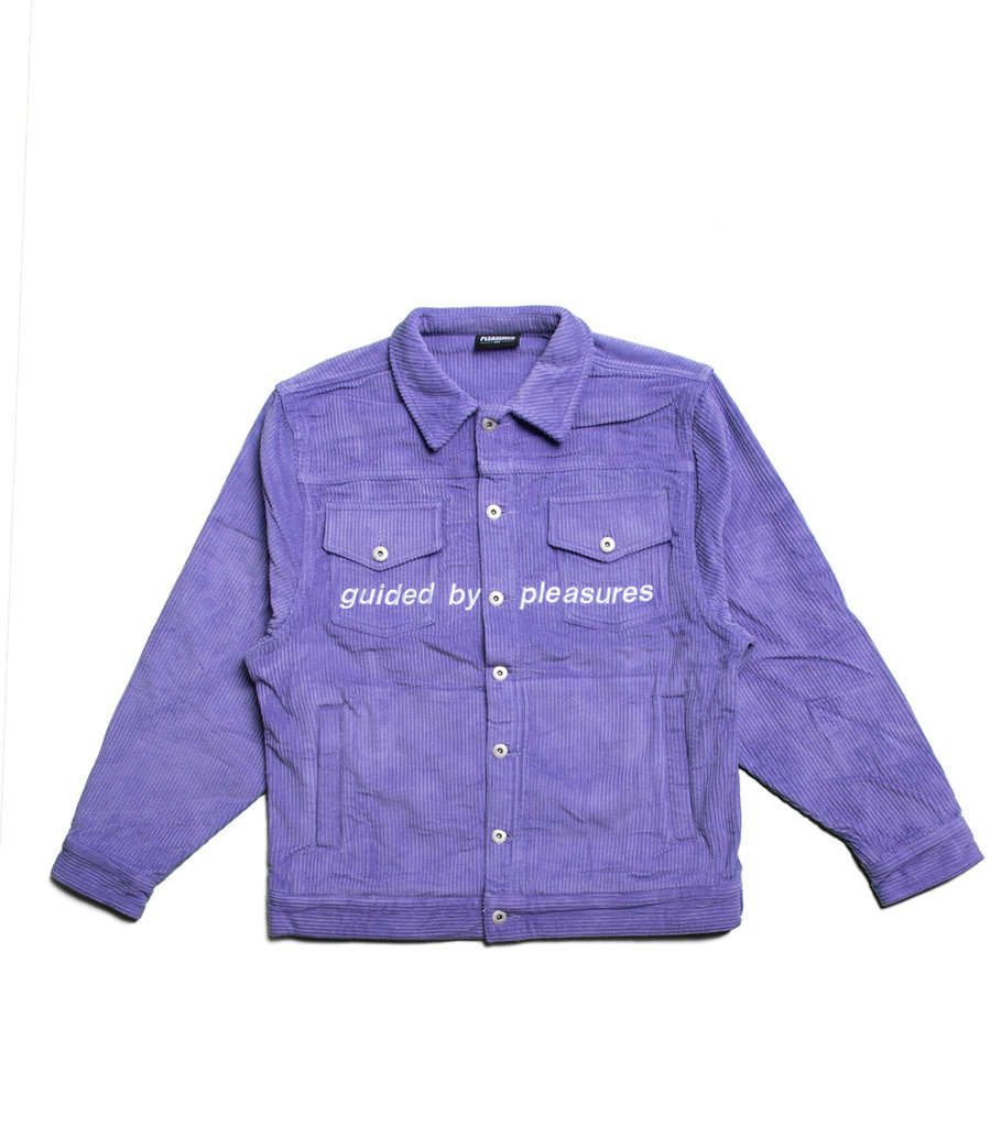 "Pleasures Corduroy Trucker Jacket ""Purple"""