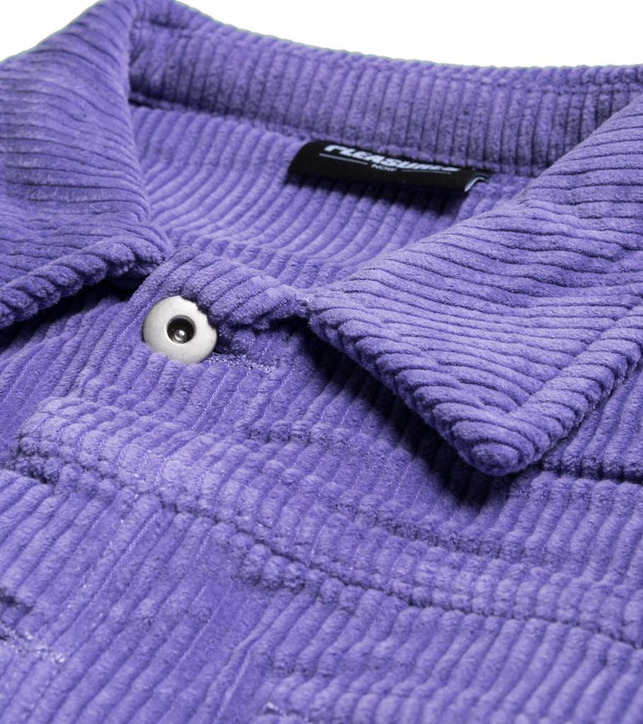 """Corduroy Trucker Jacket """"Purple""""-3"""
