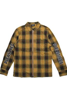 """Pleasures Vernon Zip Shirt """"Yellow"""""""