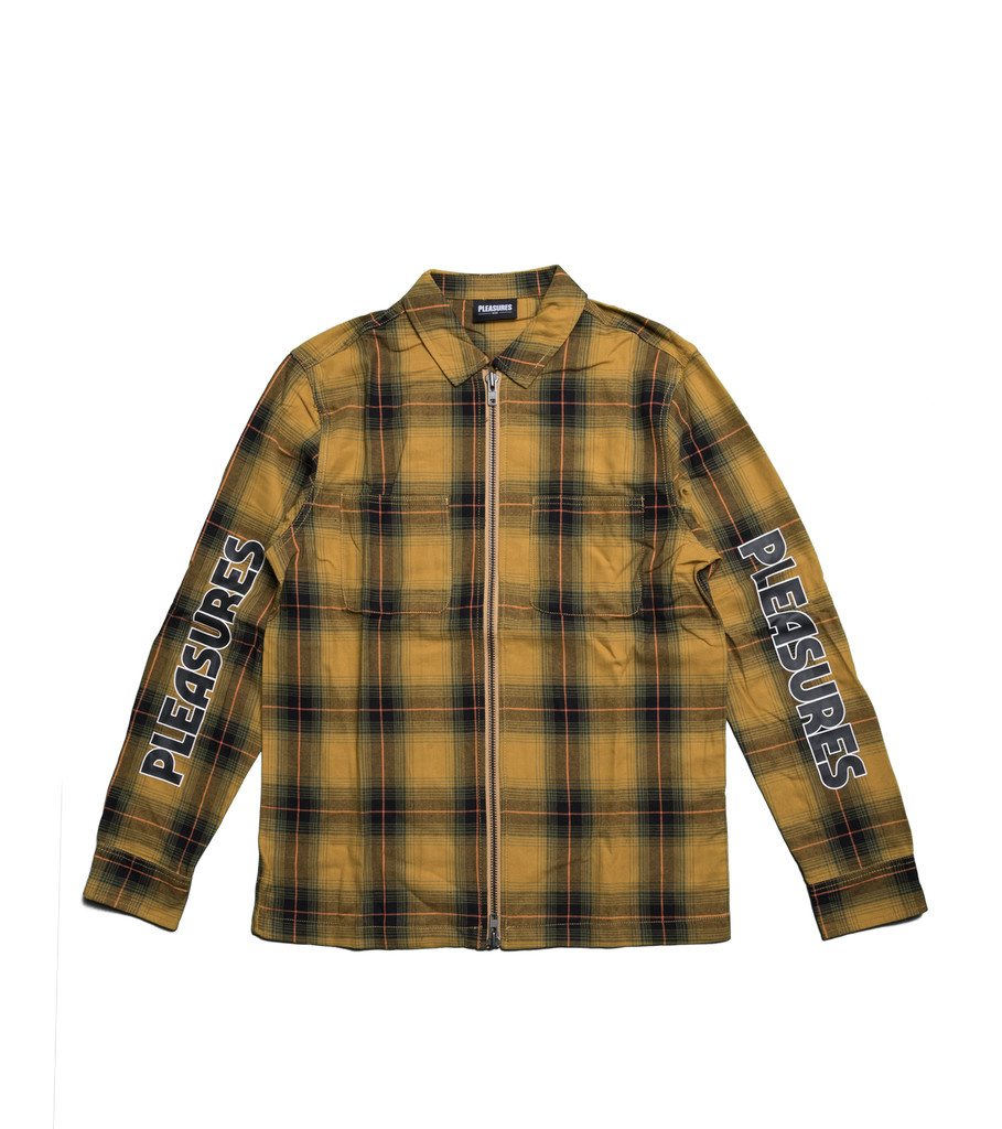 "Pleasures Vernon Zip Shirt ""Yellow"""