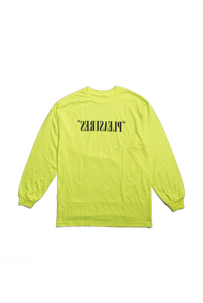 "Flipped Logo LS Tee ""Safety Green"""