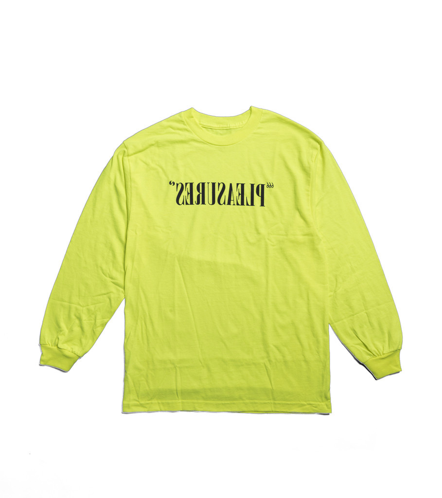 "Flipped Logo LS Tee ""Safety Green""-1"