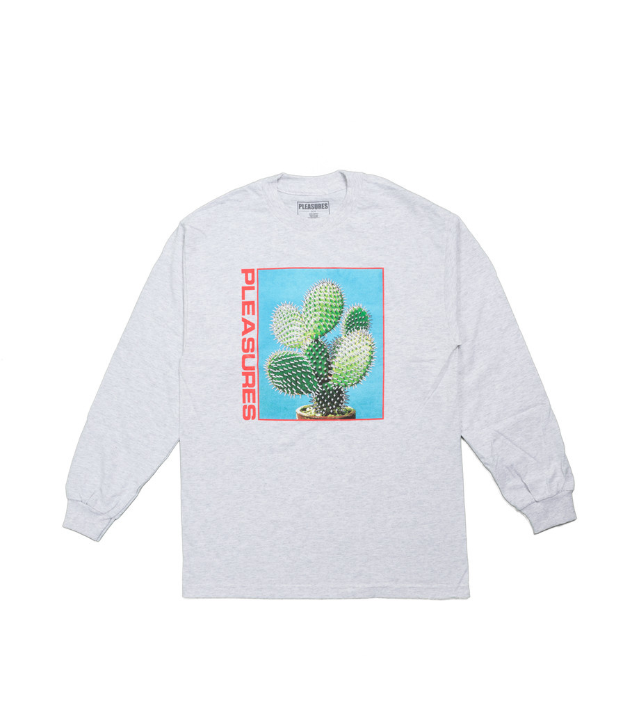 "Pleasures Spike LS Tee ""Ash Grey"""