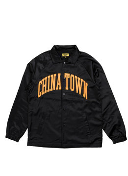 "Chinatown Market Satin Coach Jacket ""Black"""