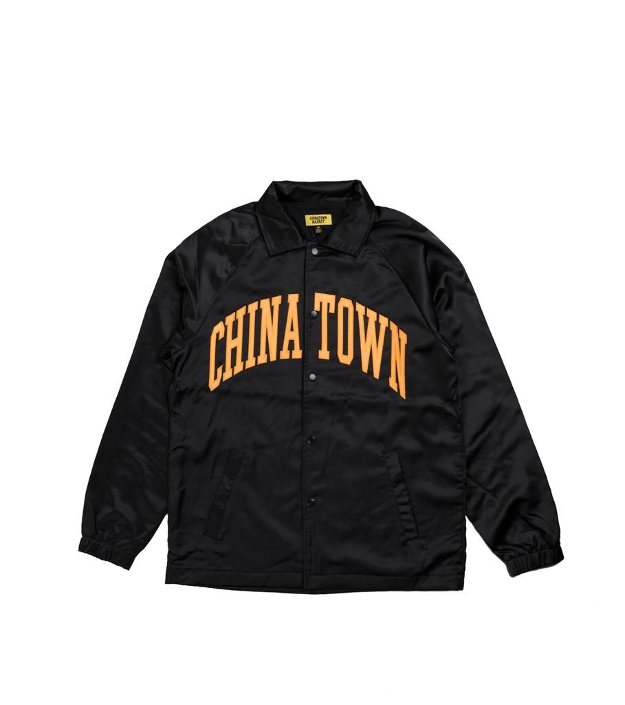 "Chinatown Market Satin Coach Jacket ""Black"""