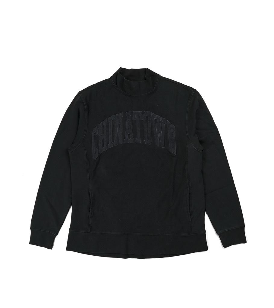 "Arch Logo Mock Sweater ""Black""-1"