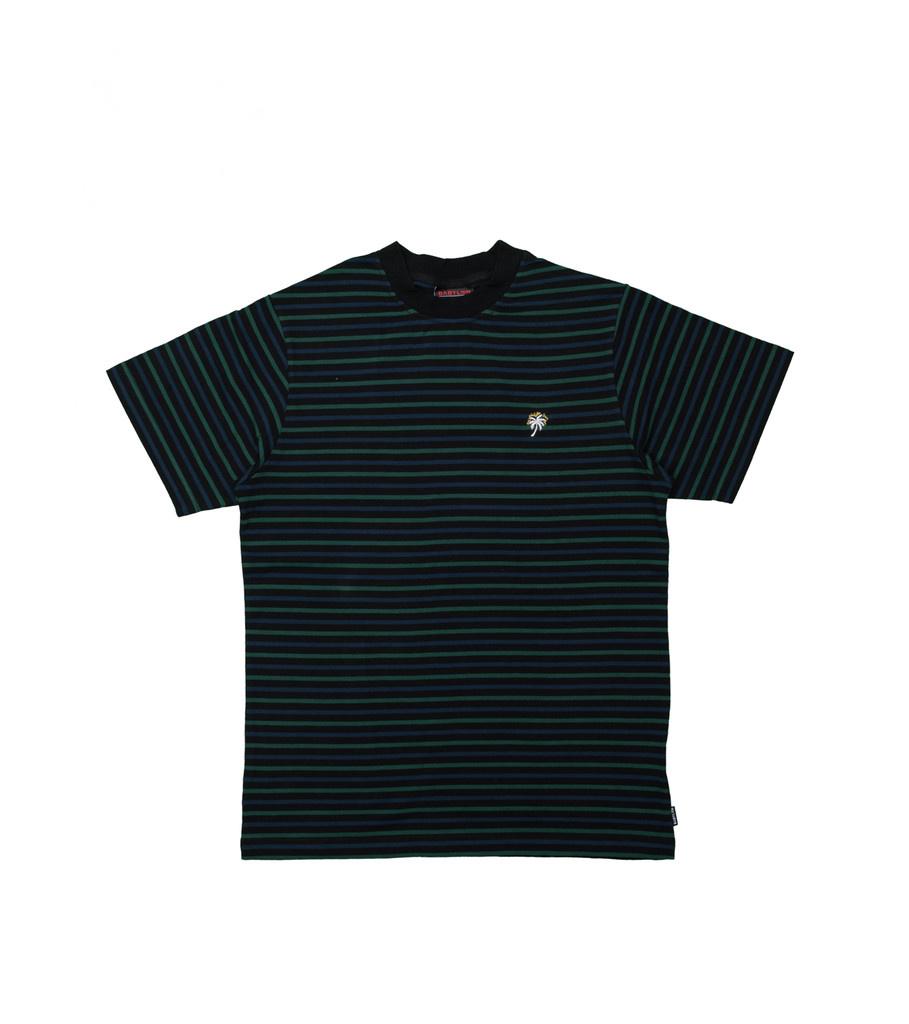 "Yarn Dyed Stripe Tee ""Black""-1"