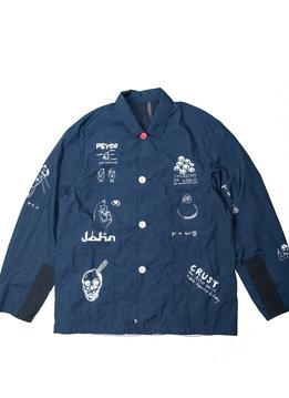 "John Undercover Bug Coach Jacket ""Navy"""