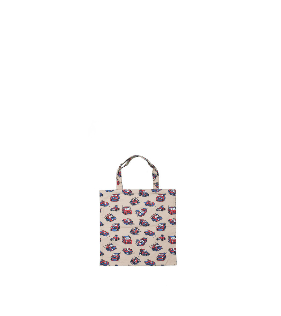 "Black Eye Patch Cars Tote Bag ""Natural"""