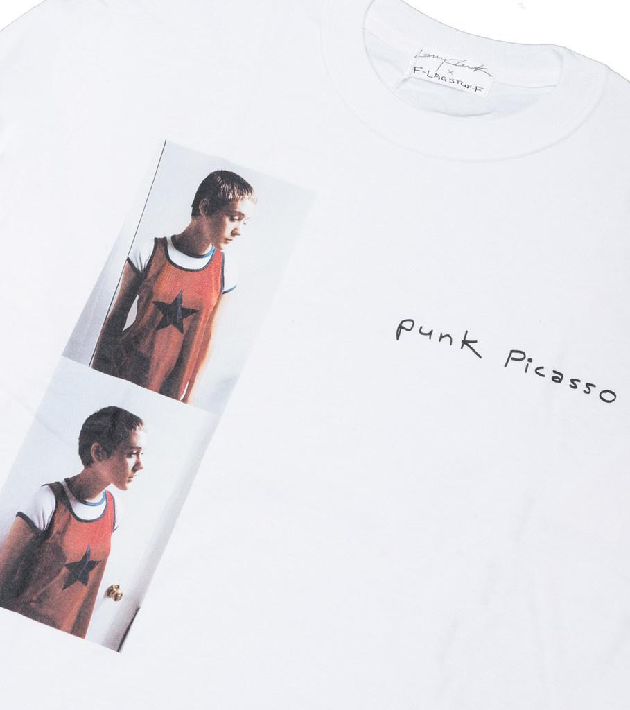 "Punk Picasso x Larry Clark LS Tee ""White""-2"