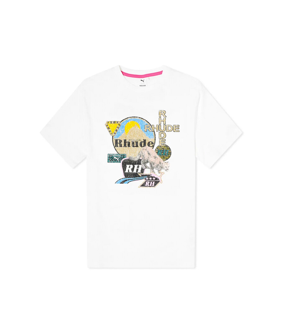 "Rhude Graphic Tee ""White""-1"