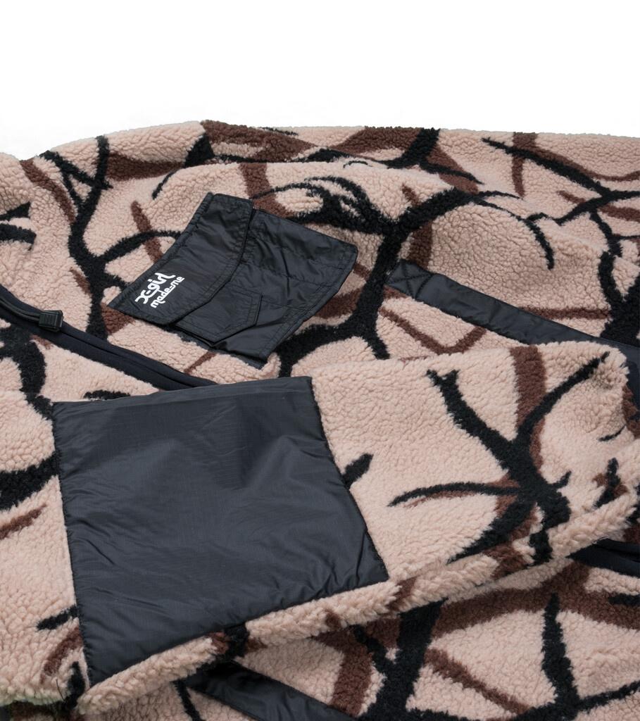 "X-Girl Reversible Fleece Jacket ""Black/Tan""-2"