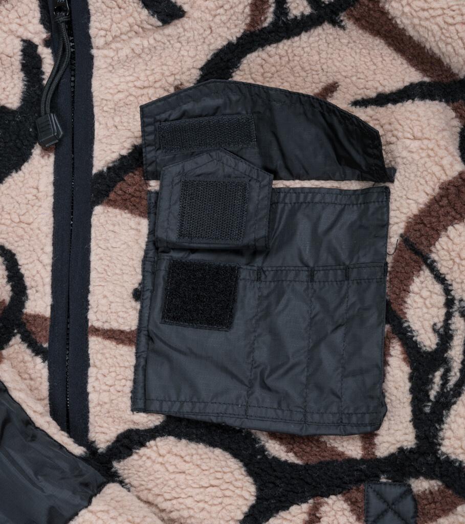 "X-Girl Reversible Fleece Jacket ""Black/Tan""-3"