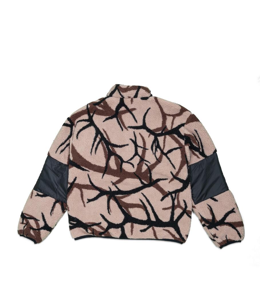 "X-Girl Reversible Fleece Jacket ""Black/Tan""-4"