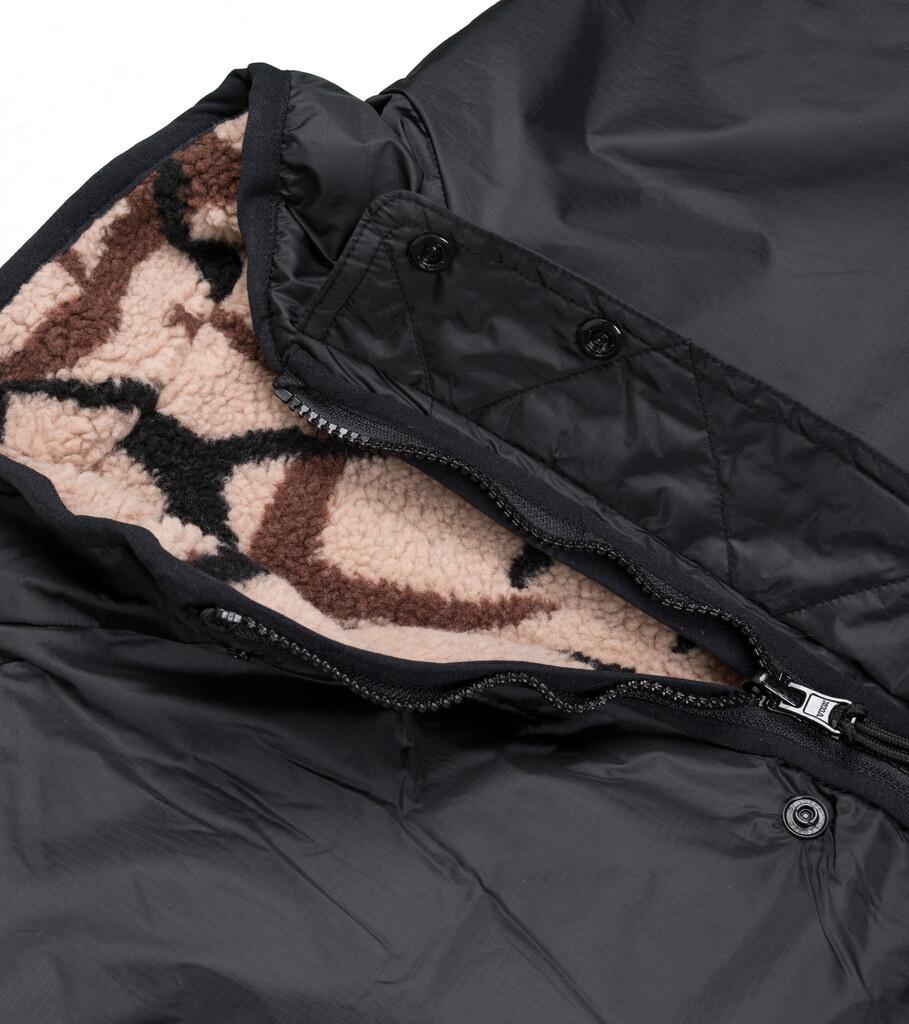 "X-Girl Reversible Fleece Jacket ""Black/Tan""-5"