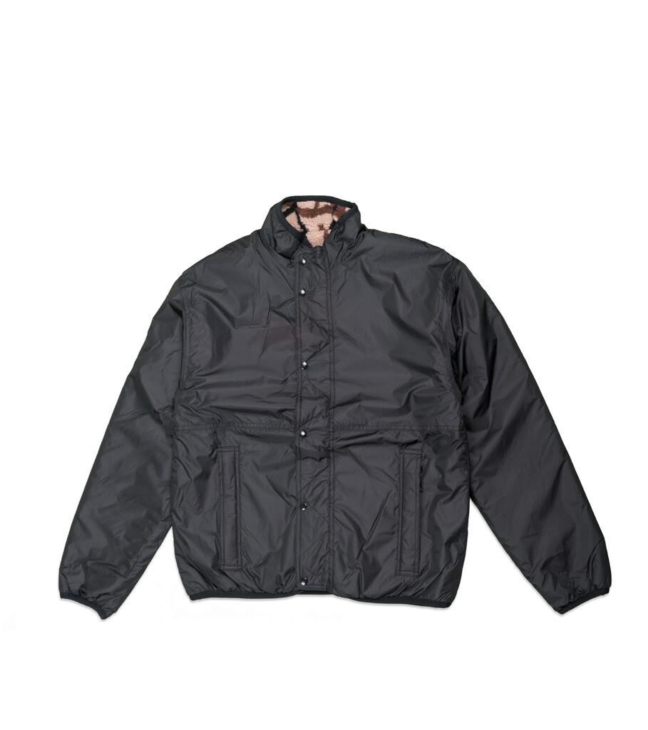 "X-Girl Reversible Fleece Jacket ""Black/Tan""-6"