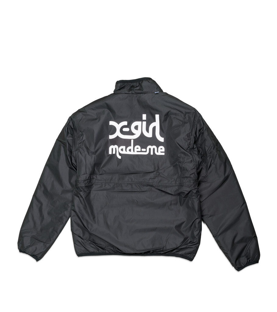 "X-Girl Reversible Fleece Jacket ""Black/Tan""-7"