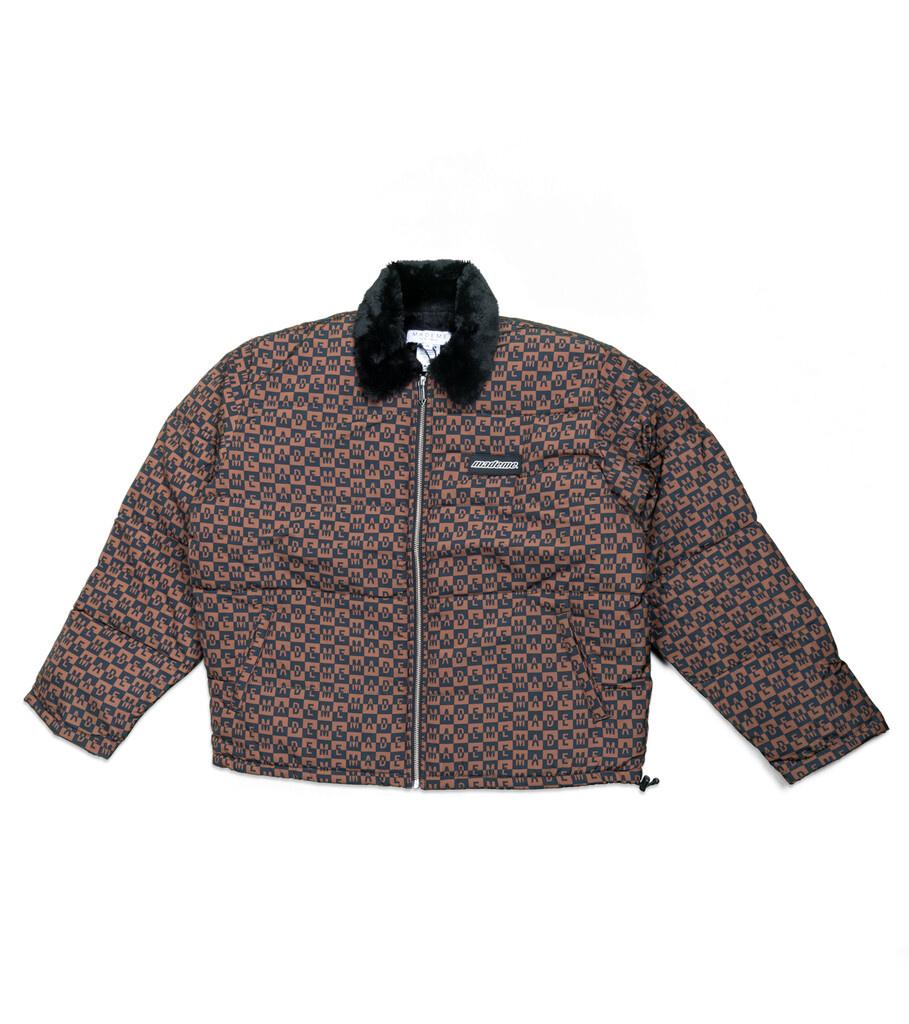"Fur Collar Puffer Jacket ""Black""-1"