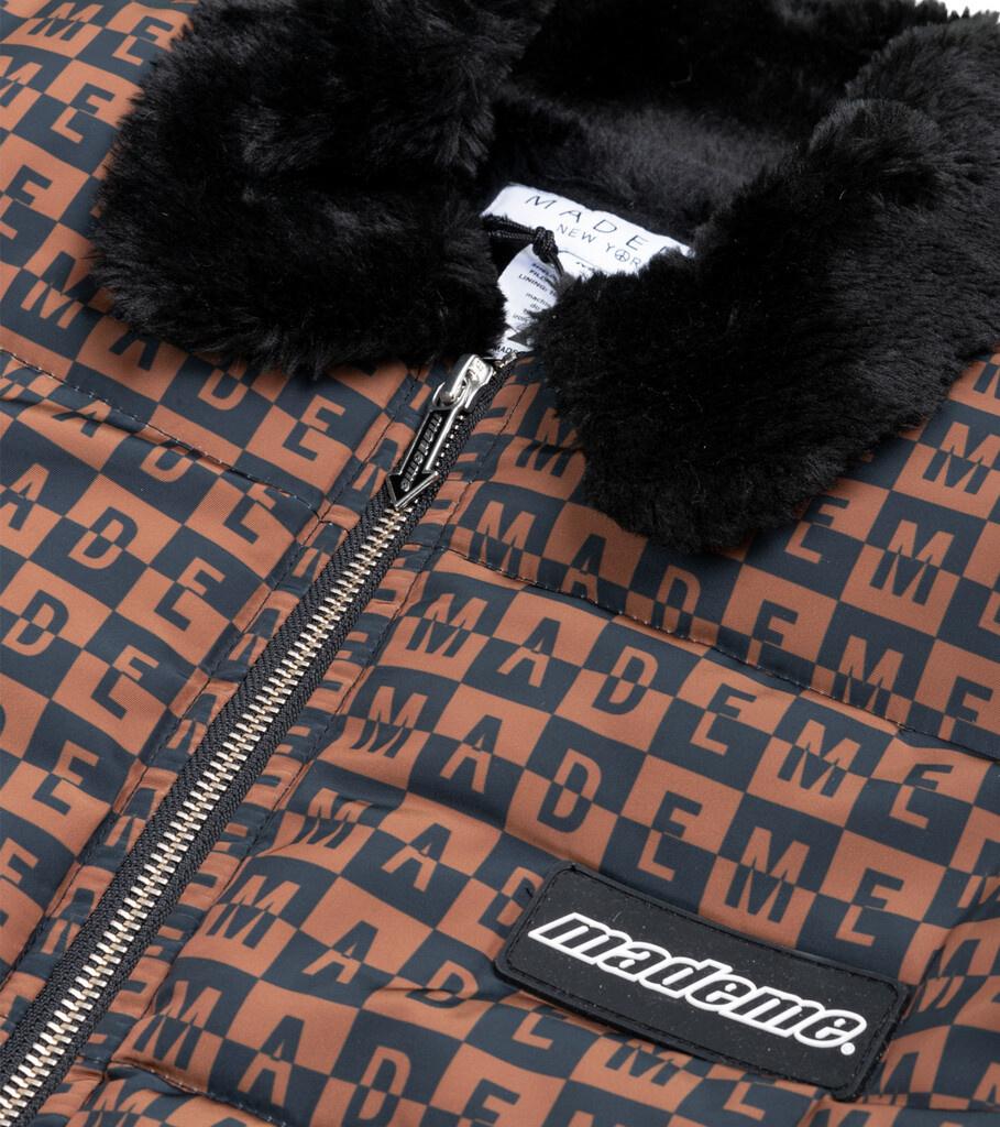 "Fur Collar Puffer Jacket ""Black""-2"