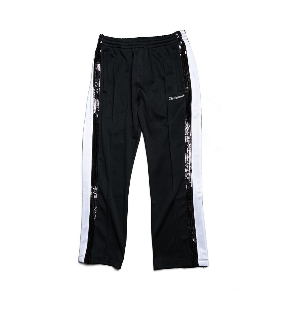 """Spangle Jersey Track Pants """"Black""""-1"""
