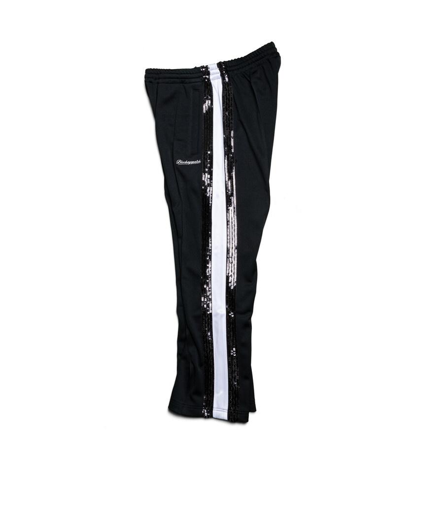 """Spangle Jersey Track Pants """"Black""""-2"""