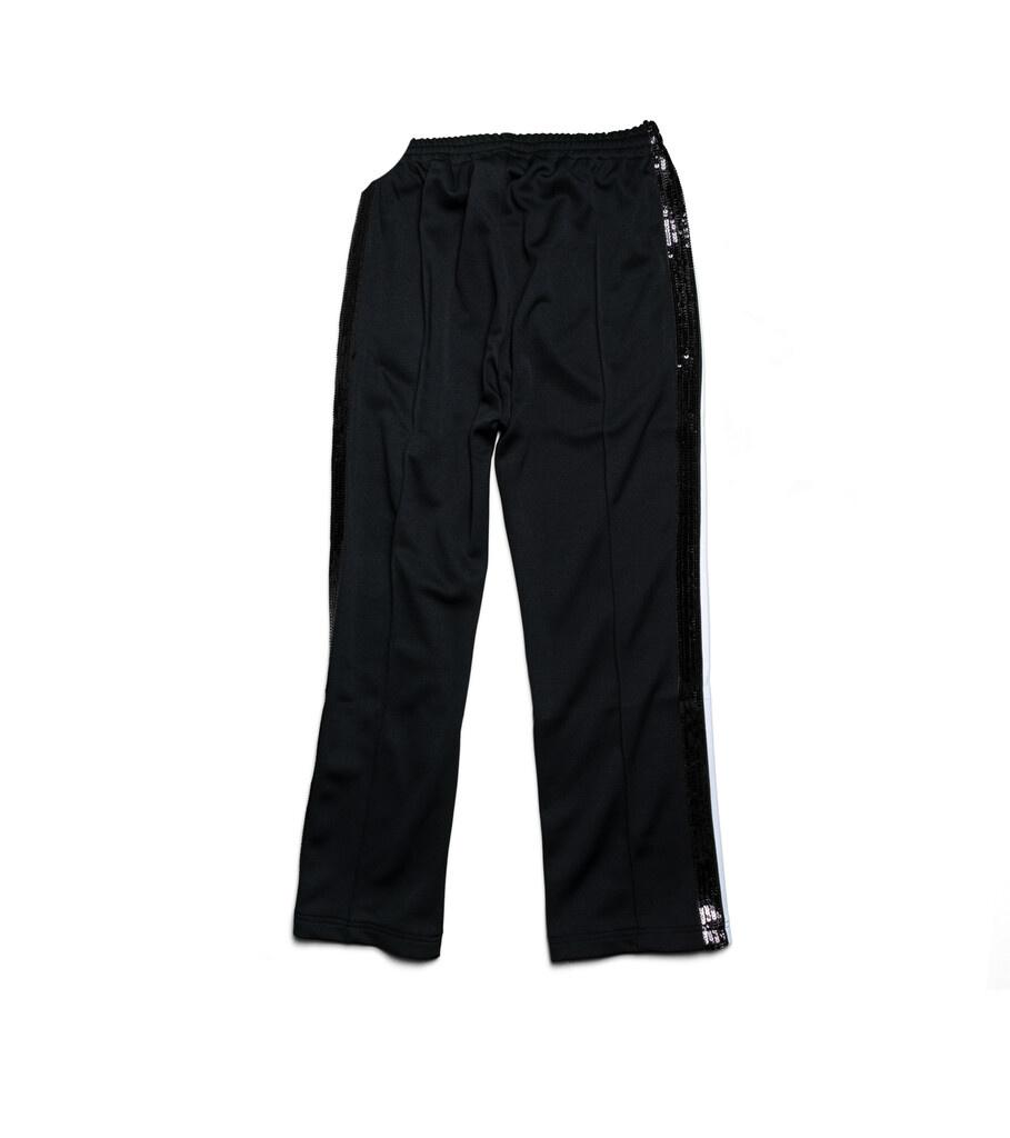 """Spangle Jersey Track Pants """"Black""""-3"""