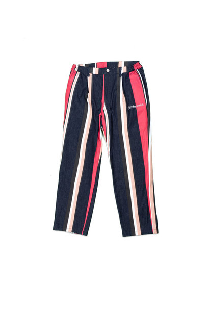 "Striped Denim Pants ""Multicolor"""