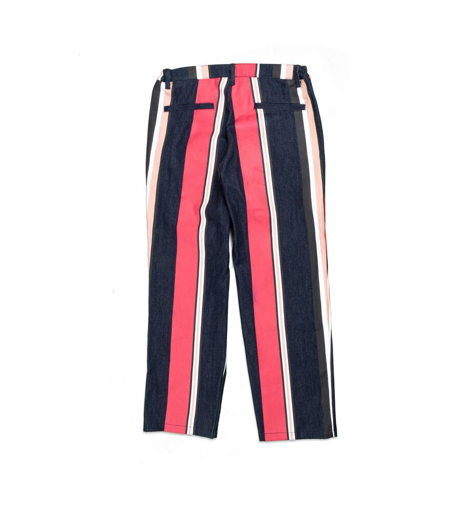 """Striped Denim Pants """"Multicolor""""-3"""