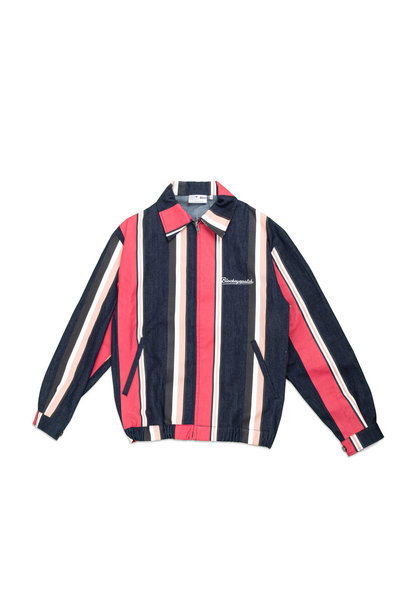 "Striped Denim Jacket ""Multicolor"""