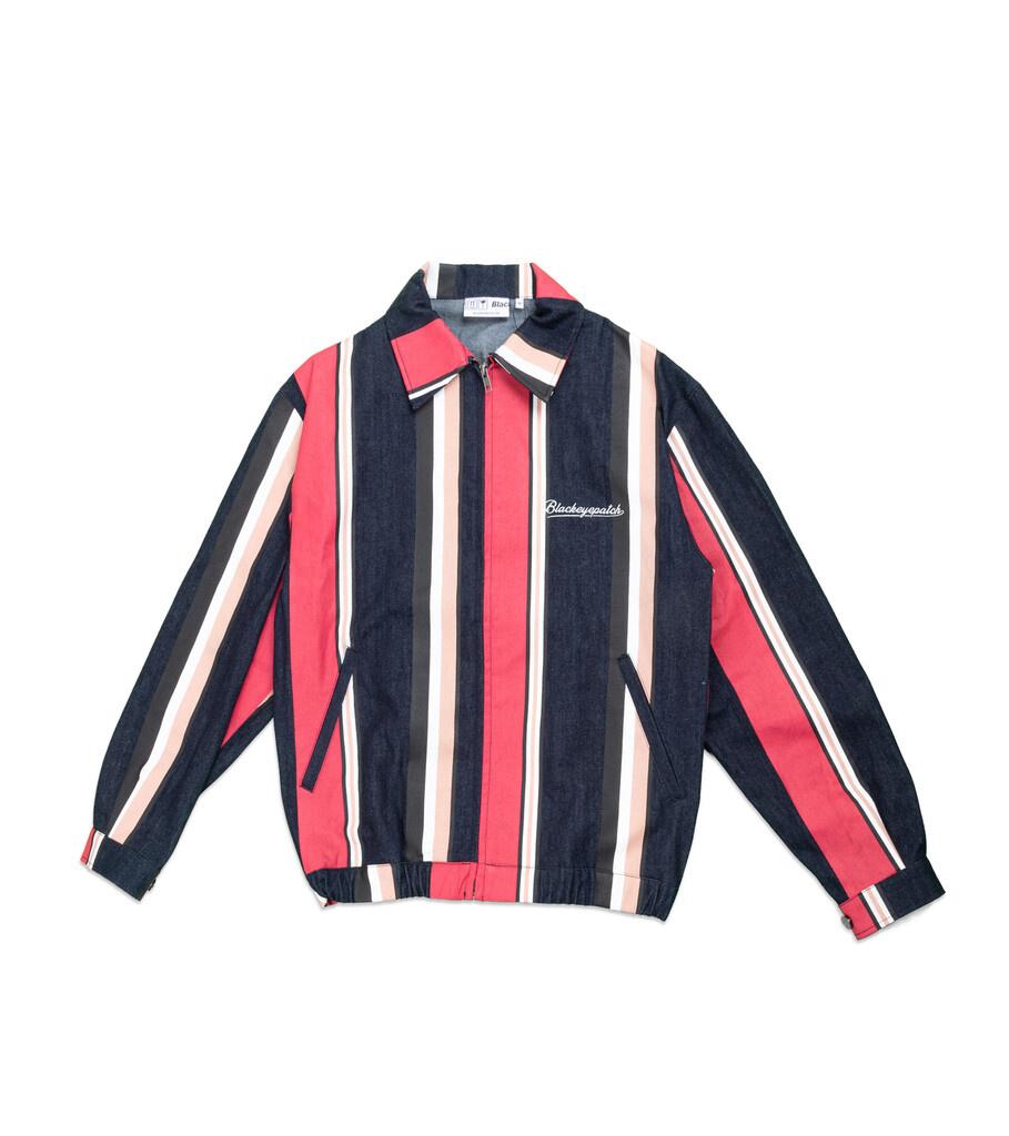 "Striped Denim Jacket ""Multicolor""-1"