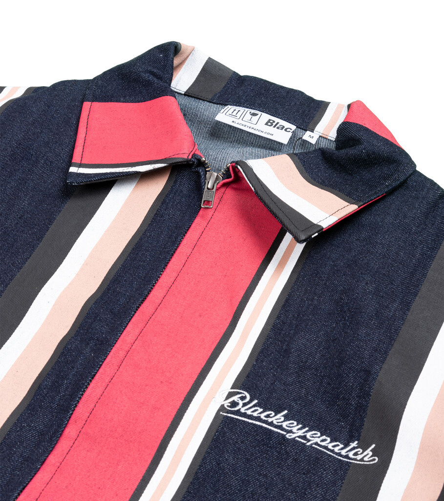 "Striped Denim Jacket ""Multicolor""-2"
