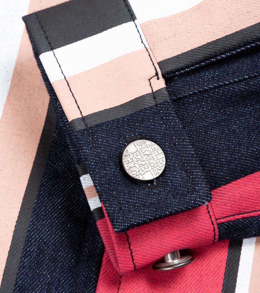 "Striped Denim Jacket ""Multicolor""-3"
