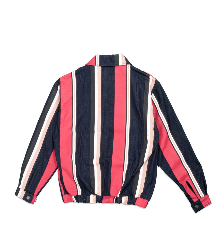 "Striped Denim Jacket ""Multicolor""-4"